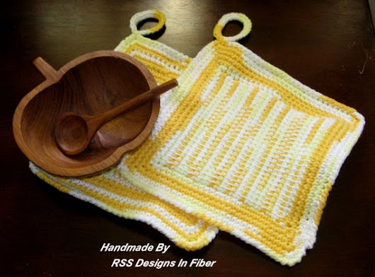 Shaded Yellows Pot Holder Set Earthy Nature Color Kitchen