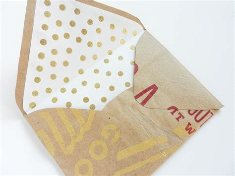 DIY Envelope Liners with Gold Polka Dots   The Postman's Knock