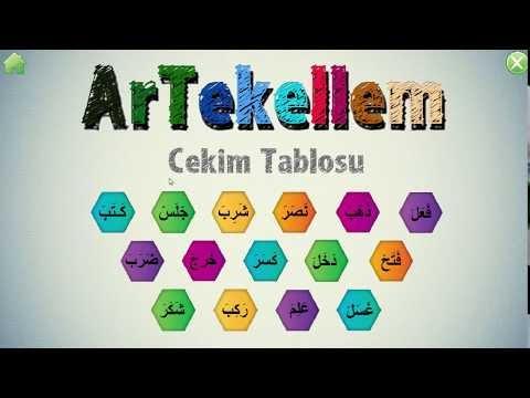 ArTekellem Arapça Çekim Tablosu Oyunu Android Sürümü İndir