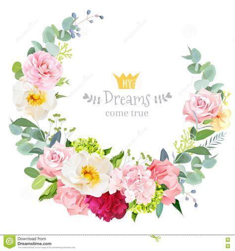 Delicate Wedding Floral Vector Design Card Vector