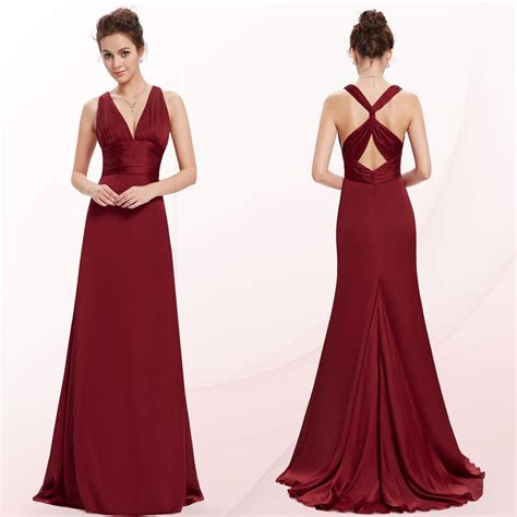 pretty sexy  neck women long evening bridesmaid prom