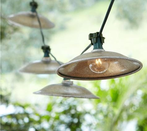 Cafe String Lights Above Bocce Court   Sonoma Landscape Design and