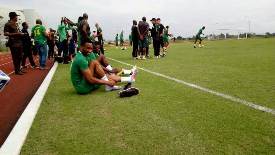 Mikel Obi, Iheanacho, Victor Moses Join Other Super Eagles For Training. Photos