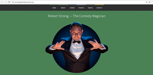 Robert Strong, The Comedy Magician, Launches New Website for his Corporate Entertainment Clients!
