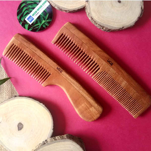 UCS Neem Wood Comb | Buy Hair Combs Online in India | Hair Comb Set | Hair Comb