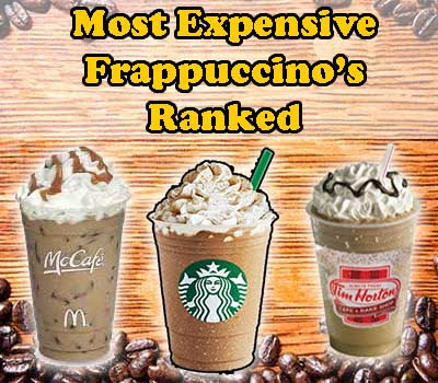 The Most Expensive Frappuccino's & Iced Coffees In USA | Ranked