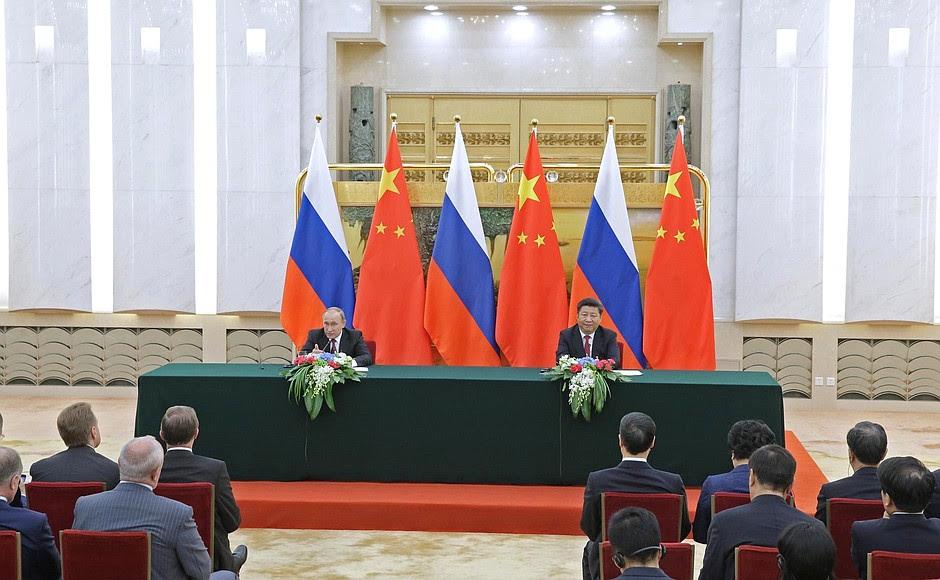 Vladimir Putin andXi Jinping made press statements following Russian-Chinese talks.