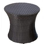 Newport Outdoor Wicker End Table - Espresso - Abbyson Living, Brown