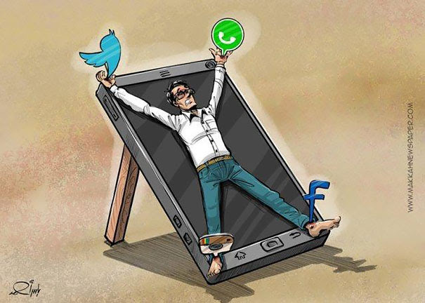 Satirical Illustrations Addiction to Technology14