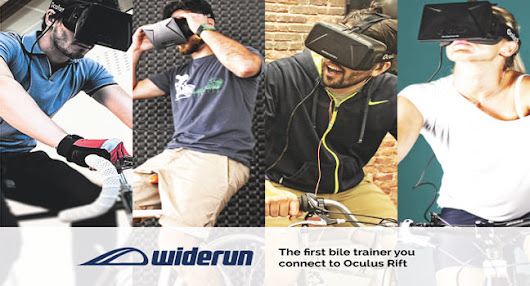 The Widerun: immersive VR 3D biking experience
