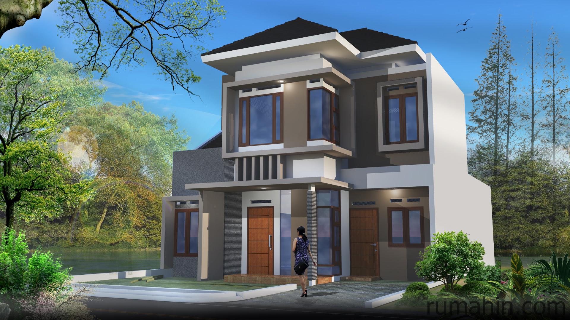 Model Rumah Minimalis Type 90 Tampilan Elegan Rumahin