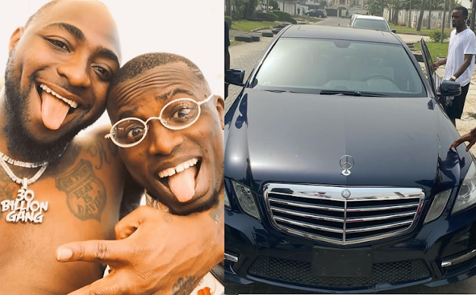 Davido's PA Aloma shows off his brand new Benz (Photo)
