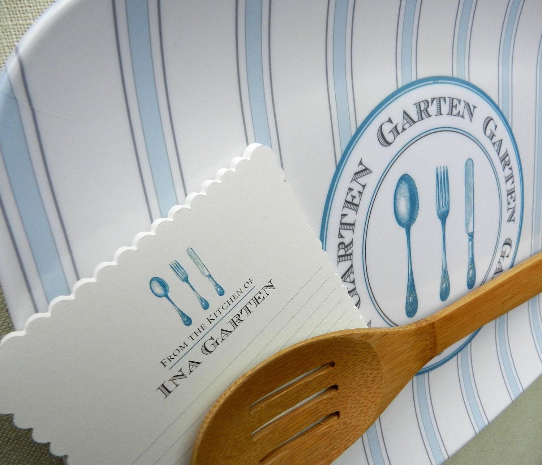 Ticking Platter and Scalloped Recipe Card Set: Silverware