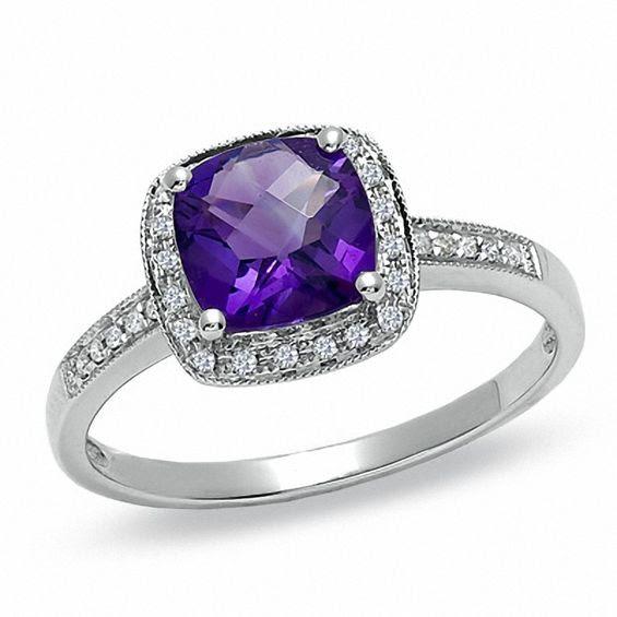 Resultado de imagen para amethyst engagement rings