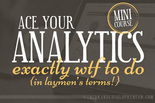 {New Mini Course} Ace Your Google Analytics : Exactly WTF To Do In Laymen's Terms