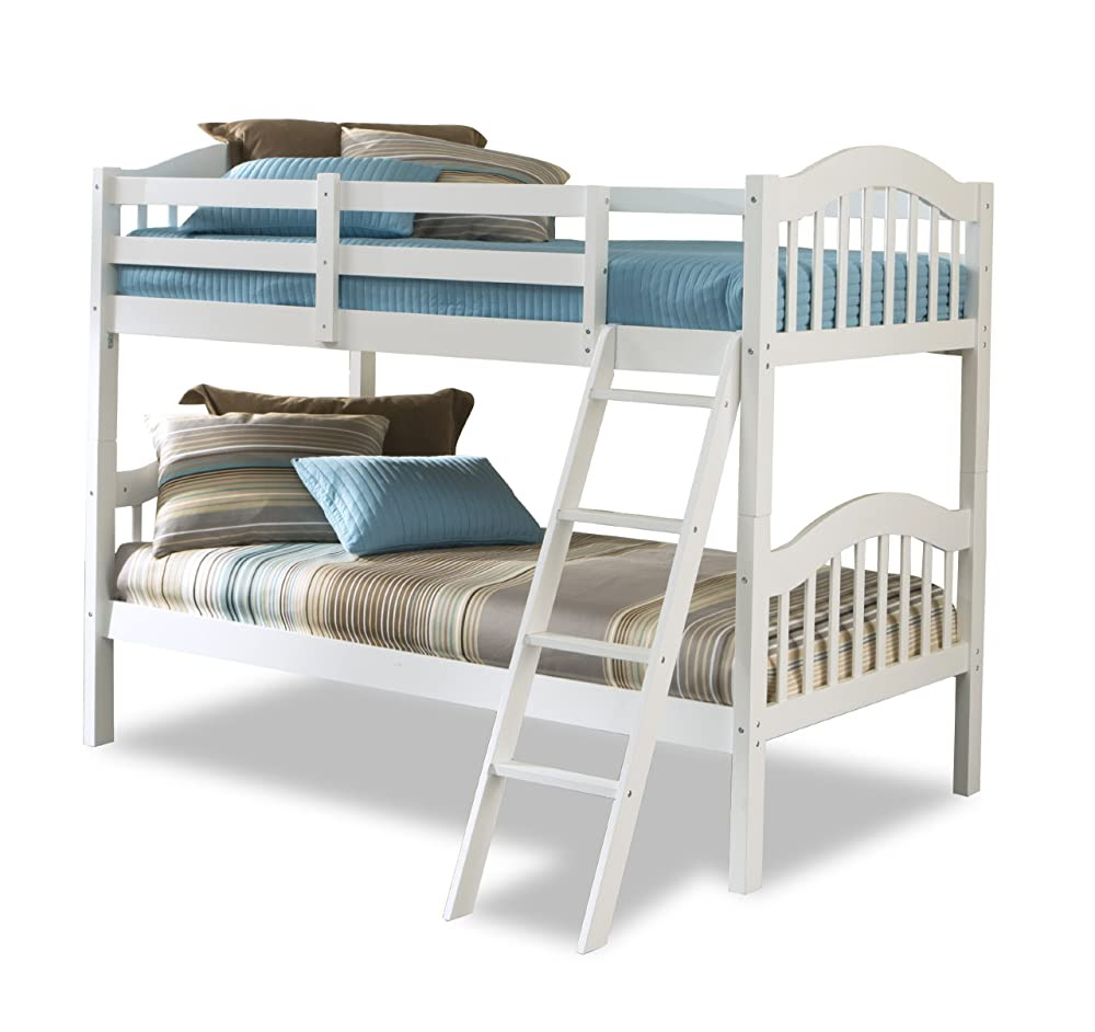 Stork Craft Long Horn Bunk Bed, White