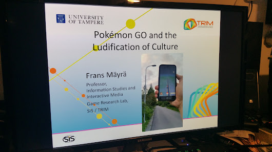 Pokémon GO and the Ludification of Culture, Mindtrek keynote