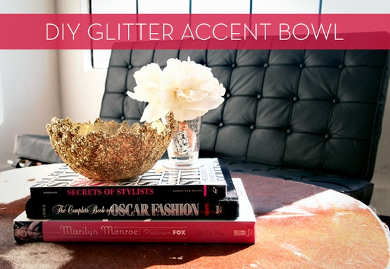 Make It: Easy DIY Glitter Accent Bowl » Curbly | DIY Design Community