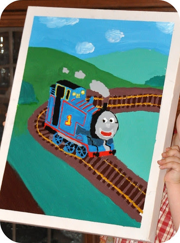 Thomas the Train Painting