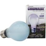 Lumiram Chromalux A19 60W Frosted Light Bulb Full Spectrum Lamp