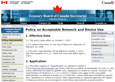 "Blocking Access to Social Media is now ""Against Policy"" in the Government of Canada"