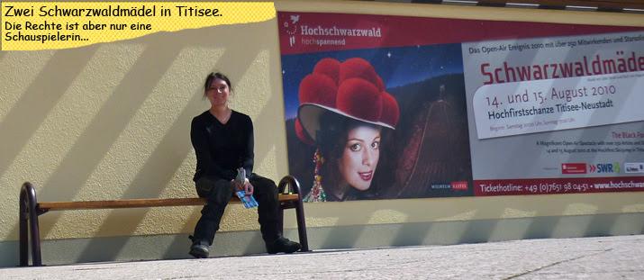 Svenja als Schwarzaldmädel in Titisee