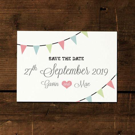 vintage bunting wedding invitation by feel good wedding