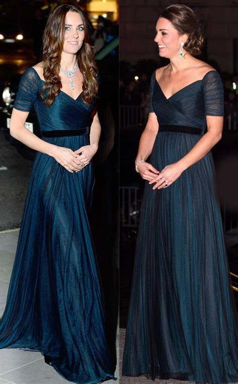 Jenny Packham Teal Gown from Kate Middleton's Recycled