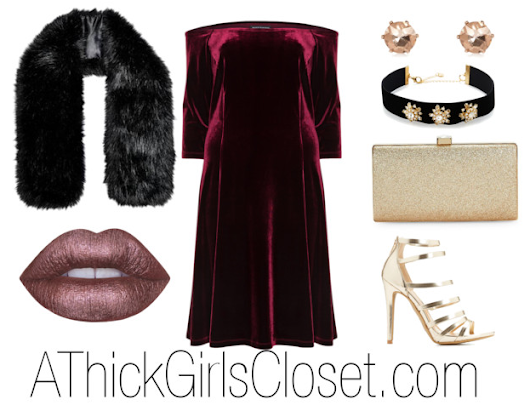 Plus Size Outfit Ideas| Red Velvet- A Thick Girl's Closet