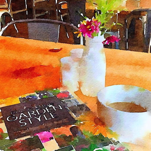 My Word with Douglas E. Welch » Today's Coffee Break Reading at Farm Table (Watercolor)