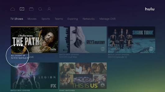 Hulu live TV adds viewing progress, new episode badging | FierceCable