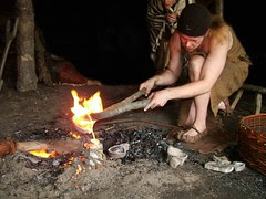 Casting an axe in the bronze age