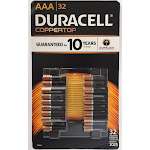 Duracell Batteries Alkaline AAA 32 Batteries