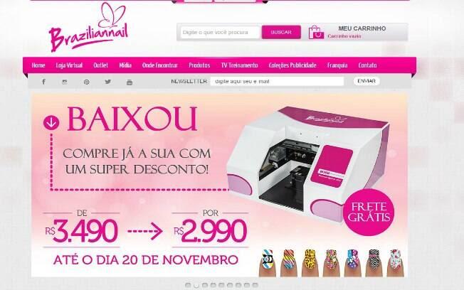 A Braziliannail aposta na decoração de unhas com equipamentos especializados, além de esmaltes especiais - Valor de investimento: entre R$ 6 mil e R$ 8 mil. Foto: Divulgação