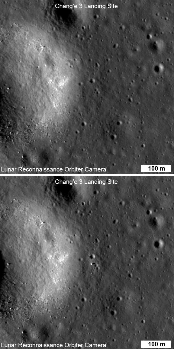 Chang'e 3: NAC before and after images