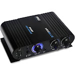 Pyle 90 Watt 8 Ohm Bluetooth Mini Blue Compact Home Studio Class T Amplifier by VM Express