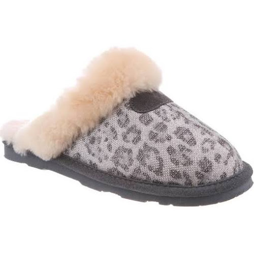 205826fefaf1 Bearpaw Slippers Womens Loki Cow Suede Scuffs Sheepskin 671W ...