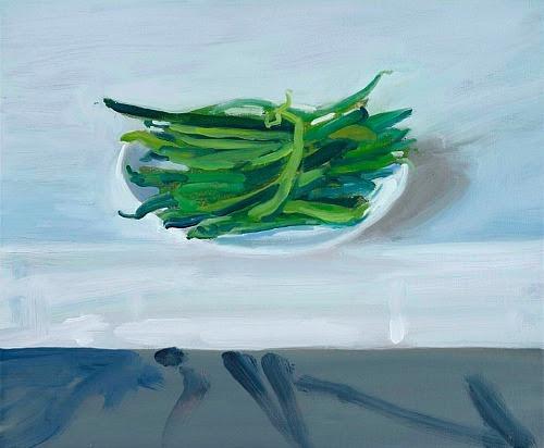 stilllifequickheart:  Craig Wylie Runnerbeans on a Table  2012