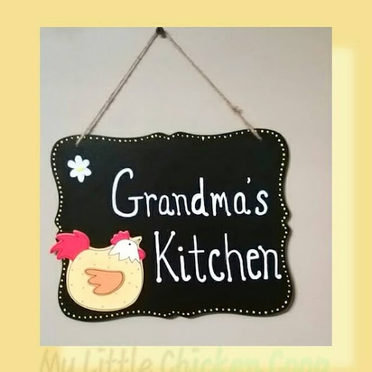 Personalized Chicken Sign Hen or Rooster by mylittlechickencoop