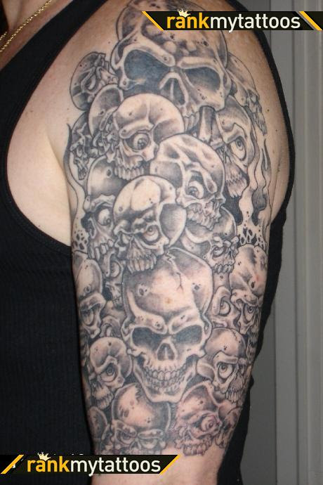 Beautiful Sleeve Oskulls Skull Tattoo Design For Men Tattoomagz