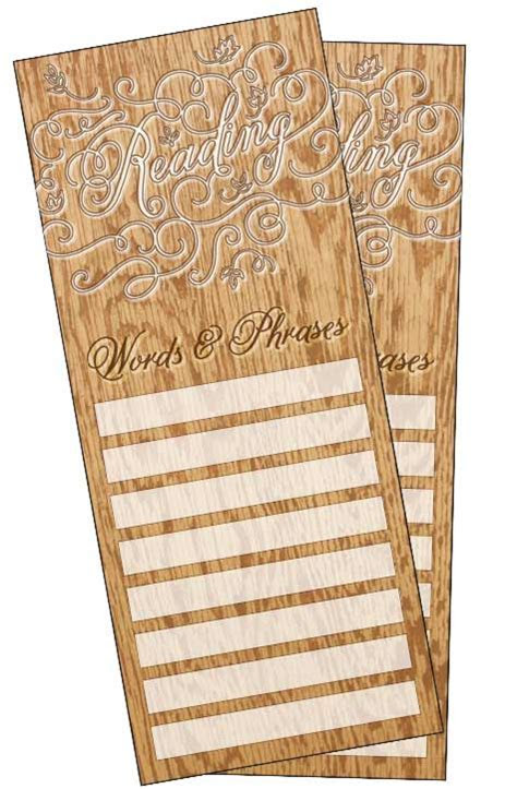 Words and Phrases Bookmarks for Print