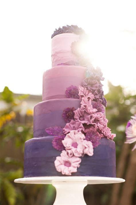 Purple Wedding   Ombre Wedding Cake Design #805164   Weddbook