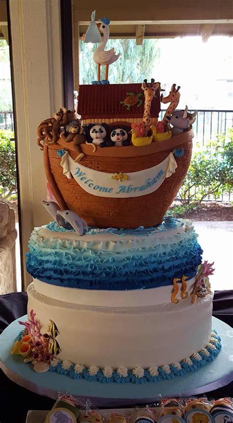 Noah's Ark Baby Shower Cake   CakeCentral.com