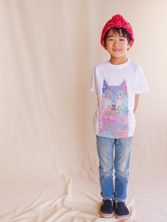 MotokoTakaheiオリジナルTシャツ【おおかみ】90~130