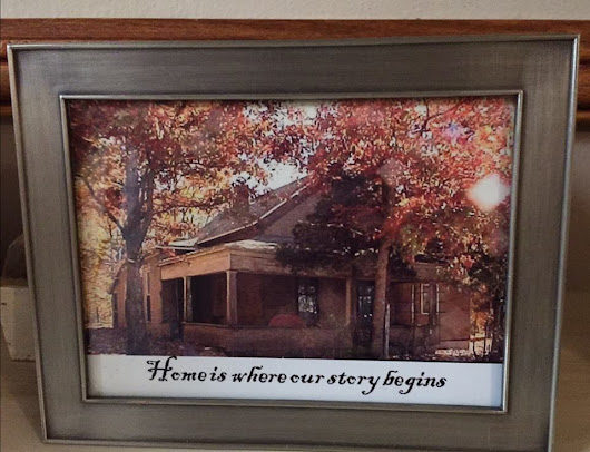 Photo Gifts- Home is where our story begins
