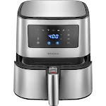 Insignia - 5-Qt. Digital Air Fryer - Stainless Steel NS-AF53DSS0