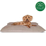 FurHaven Pet Dog Bed   Oxford & Suede Pillow Pet Bed For Dogs & Cats (Clay, Large)