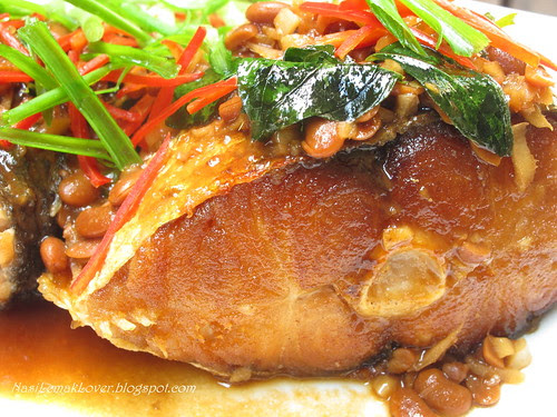 Soy bean paste deep fried fish