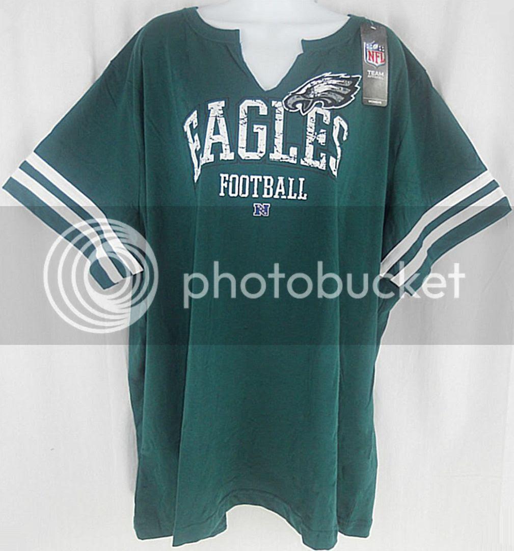 Philadelphia Eagles NFL Team Apparel Womens V Neck Shirt 3XL  4XL Plus Sizes  eBay