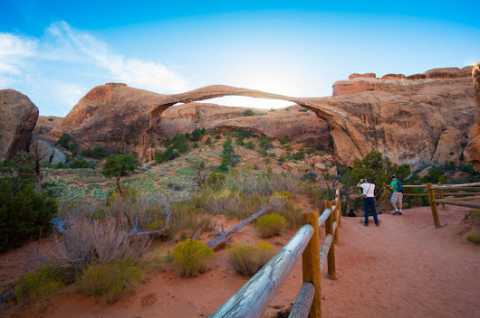 Hiking to Landscape Arch in Arches National Park – Camera and a Canvas